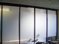 Reception or office window frosting