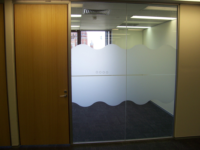Local Window Privacy Film Installation