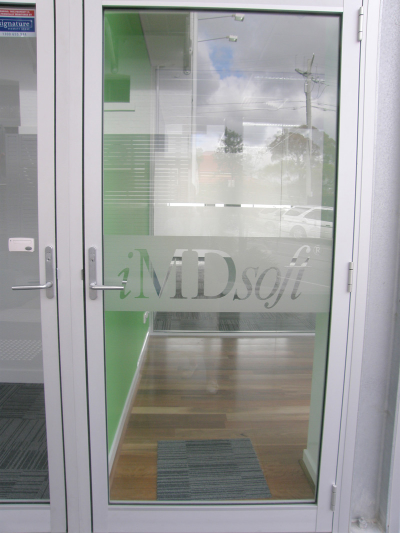 iMDsoft Business Window Privacy Film